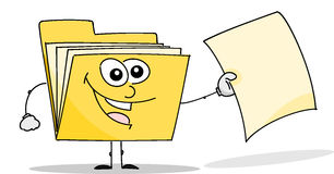 Faltblatt bietet eine Datei an Stockbilder
