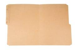 Faltblatt der geöffneten Datei Stockfotografie
