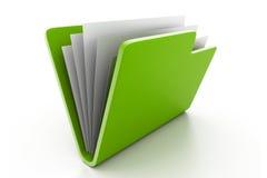 Faltblatt mit Dokumenten lizenzfreie abbildung