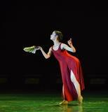 Falten des Fan-leeren und fest-modernen Tanzes Stockfoto