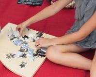 faltende Puzzlespiele Lizenzfreie Stockbilder