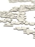 Faltendes Puzzlespiel. Ein Hintergrund. Stockfotografie