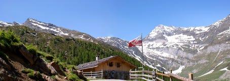 \ \ Faltschnalalm \ \ in de Alpen Oetztal Royalty-vrije Stock Fotografie