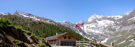 The \\Faltschnalalm\\ in the Oetztal Alps Royalty Free Stock Photography