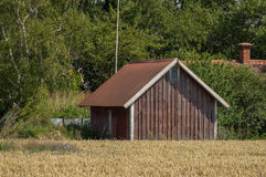Falu red Swedish barn Royalty Free Stock Photo