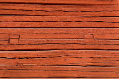 Falu Red Wooden Surface Stock Photography