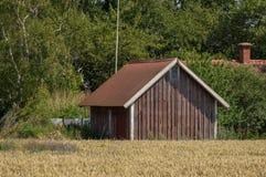 Falu rode Zweedse schuur Royalty-vrije Stock Foto
