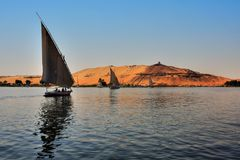 Faluca boat sailing royalty free stock image
