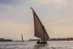 Faluka en Nile River Imagenes de archivo