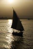 Faluka na Nil Fotografia Royalty Free