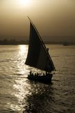 Faluka på Nilen Royaltyfri Fotografi