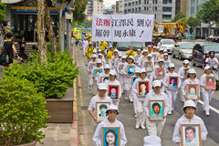 Falun Dafa Anti-persecution parade Taiwan Stock Photography