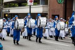 Falun Dafa Band in the Grand Floral Parade Stock Image