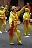 Falun Dafa, desfile del día del St. Patrick fotos de archivo