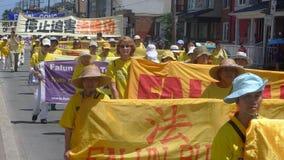 Falun Gong marzo Fotos de archivo