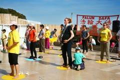 Falun Gong in Paris Royalty Free Stock Photo