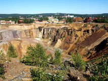 Falun Mine. The great copper mine world heritage site in Falun, Sweden stock photos