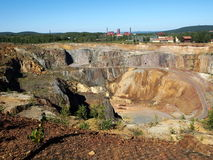 Falun Mine. The great copper mine world heritage site in Falun, Sweden royalty free stock photo