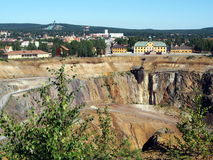 Falun Mine. The great copper mine world heritage site in Falun, Sweden stock photo