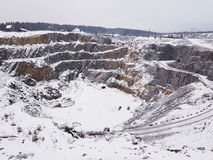 Falun mine. Impressive Falun mine in winter Royalty Free Stock Images