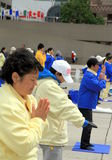 Falung Gong Practitioners Royalty Free Stock Photography