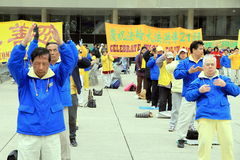 Falung Gong Practitioners Royalty Free Stock Photos