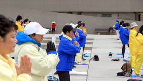 Falung Gong Practitioners Stock Image