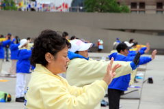 Falung Gong Practitioners Royalty Free Stock Image