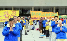 Falung Gong Practitioners Royalty Free Stock Images