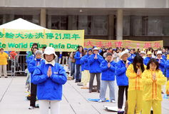 Falung Gong Practitioners Stock Images