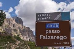 Falzarego Pass Stock Photography