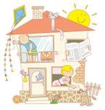 Família ilustração stock