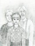 Família Fotografia de Stock