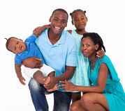 Família afro-americana imagens de stock
