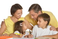 Família agradável Imagens de Stock