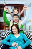 Família alegre Fotografia de Stock