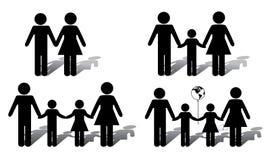 Família alternativa ilustração do vetor