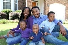 Família americana africana imagem de stock