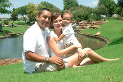 Família americana diversa imagem de stock
