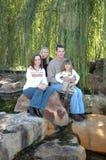Família americana feliz foto de stock