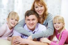 Família amigável Fotos de Stock