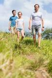 Família ao ar livre imagens de stock
