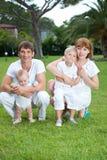 Família ao ar livre Imagem de Stock