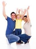 A família arma-se acima Imagens de Stock Royalty Free