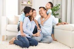 Família asiática Fotografia de Stock Royalty Free