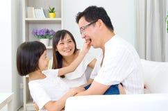 Família asiática Fotografia de Stock