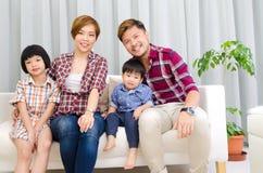 Família asiática bonita Imagem de Stock