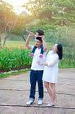 Família asiática bonita Fotos de Stock