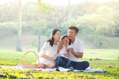 Família asiática bonita Fotografia de Stock
