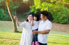 Família asiática bonita Foto de Stock
